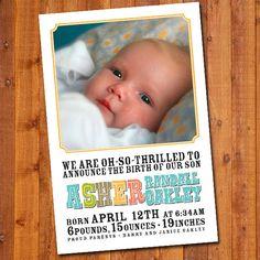 Custom Baby Announcements with Photo by PuttinOnTheGlitz4U