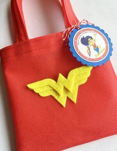 Conjunto de 12 bolsas de maravilla mujer Favor con etiquetas