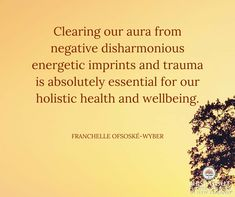 Clearing our aura from negative disharmonious energetic imprints and trauma is absolutely essential for our holistic health and wellbeing. Chakra Balancing, Order Flowers, Health Quotes, Health And Wellbeing, Natural Medicine, One Light, Trauma, Chronic Illness, Therapy