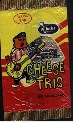 Cheese Tris: Another tasty memory, though they lost their appeal if you left them sitting on the back dash of the car while you were playing at Caimare Chico all day. They developed a funny plastic flavor lol. I know this from experience.