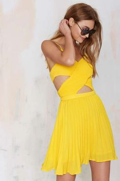 Glamorous Favorite Ex Crossover Dress - Yellow