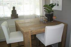 Eettafel(oud steigerhout) 100 cm hoog