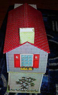Vintage Tin Litho Dollhouse Incomplete Mid Century C 1960's Marx Wolverine | eBay