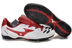 Mizuno Wave Ignitus K-Leather TF Soccer Cleats-White Black Red