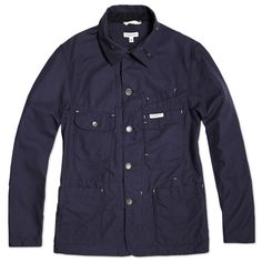 Engineered Garments Coverall Jacket (Navy 11.5oz Duck Canvas)