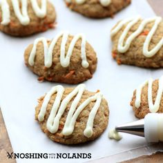 Carrot Cake Cookies by Noshing With The Nolands