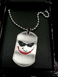 Heath ledger joker batman  necklace and pendant dogtag #Pendant