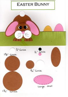 Whilst serching the internet for inspiration I saw another Easter bunny that was just so cute, so I thought I would make one to share with y. Spring Crafts, Holiday Crafts, Holiday Fun, Easter Activities, Easter Crafts For Kids, Rabbit Crafts, Punch Art, Art Plastique, Greeting Cards Handmade