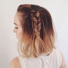 A single braid can make a big impact. Add a messy, chunky fishtail to the side of your hair for a quick and easy style boost.