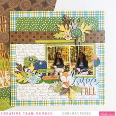 It's Dorymar with you today. I'm so excited to share with you my first project as a Designer for Bella Blvd, it's a dream come true! Today, I'm sharing a layout I created using the Let's Go on. Baby Scrapbook, Scrapbook Paper Crafts, Scrapbook Albums, Scrapbook Cards, Scrapbook Layout Sketches, Scrapbooking Layouts, Fall Paper Crafts, Scrapbook Generation, Cute Fox