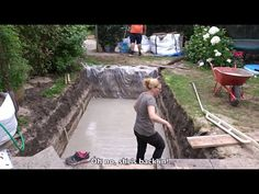 How to build your swimming pool - Step by step - Free Online Videos Best Movies TV shows - Faceclips Homemade Swimming Pools, Swimming Pool Steps, Natural Swimming Ponds, Building A Swimming Pool, Swimming Pool Construction, Swiming Pool, Small Swimming Pools, Lap Pools, Natural Pools
