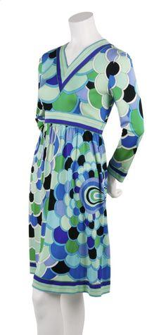 An Emilio Pucci geometric print dress, 1960's.