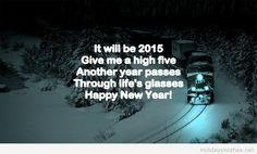 Train winter Happy new year 2015
