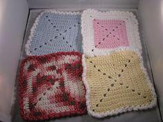 Crochet Korner 4 Crochet Baby Wash Clothes White by CrochetKorner, $10.00