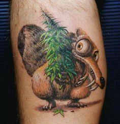 really cute marijuana tattoo