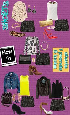 1 prenda 5 looks short/ shorts 5 ways to use it