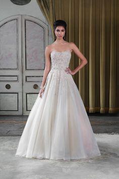 Style 9807. Justin Alexander Signature 2016 wedding dress collection #weddingdress #strapless