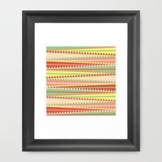 Sherbert Framed Art Print by Jaymee - $35.00