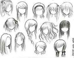 Anime or manga people hair