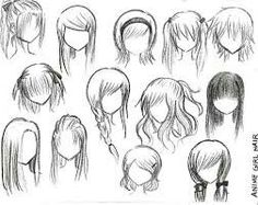 Anime or manga people hair