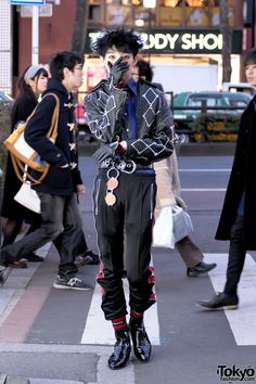 Japanese Mens Streetwear in Harajuku