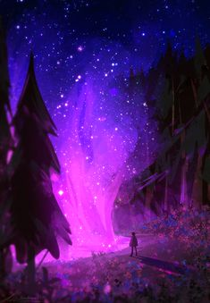 Where the sky grows, ZandraArt Fantasy Landscape, Landscape Art, Cool Backgrounds, Wallpaper Backgrounds, Fantasy Kunst, Fantasy Art, Cute Galaxy Wallpaper, Background Drawing, Sky Art