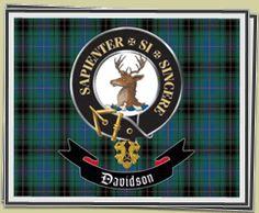 DAVIDSON Clan Tartan & Crest