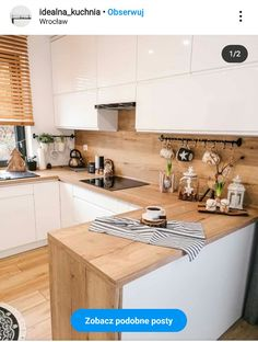 Kitchen Room Design, Modern Kitchen Design, Home Decor Kitchen, Interior Design Kitchen, New Kitchen, Home Kitchens, Kitchen Dining, Wooden Kitchen, Cocinas Kitchen