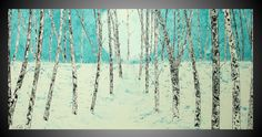 Abstract Birch Tree Painting Acrylic Painting on by acrylkreativ, $339.00