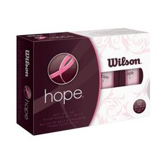 Wilson Hope HOT PINK Golf Balls - 72 Balls (6 x 12 Ball Pack) by Wilsn. $79.99. The Hope brand represents more than $20 million in sales dedicated solely to the women golfer.  The purchase of Hope golf balls equate to a contribution to The Breast Cancer Research Foundation's quest to achieve prevention and achieve a cure for breast cancer. The Wilson Hope ball is high-performance two-piece ball that provides the best blend in distance, durability and value. By purchasi...