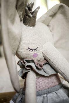 Handmade Elephant Princess Cloth Doll by Peanut And Elliott