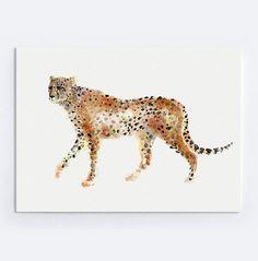 Guépard peinture aquarelle animaux abstrait du par ColorWatercolor
