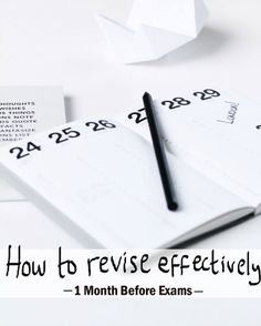 How to Revise Effectively: 1 Month Before the Exams - A Chic Lifestyle