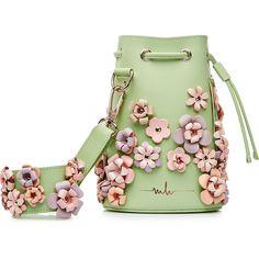 0f321b8d22 Marina Hoermanseder Kasper Flowers Leather Shoulder Bag (25.650 RUB) ❤  liked on Polyvore featuring