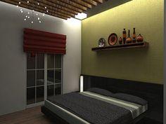 3D architectural model interior design of bedroom