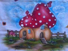 pintura em tecido casinhas de frutas - Pesquisa Google Painting Patterns, Color Patterns, Leaf Patterns, Coloring Books, Coloring Pages, Decoupage, Diy And Crafts, Arts And Crafts, Cute Clipart
