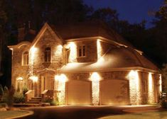 Exterior soffit lighting | Exterior | Pinterest | Lights, Garage ...