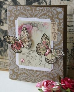 postcard | Using some printables and the butterfly stamped o… | Flickr