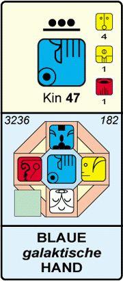 KIN 47 - Blaue Galaktische Hand- Energiekalender n. Kössner - Herzensleben