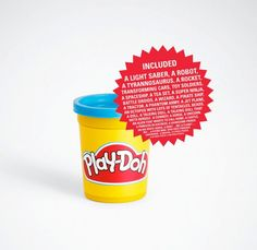 Every kid loves Play-Doh. heck, everyone loves Play-Doh. This simple print ad works wonders on playing on the imagination; Print Advertising, Creative Advertising, Print Ads, Poster Prints, Advertising Agency, Ad Design, Print Design, Ninja Battle, Ad Of The World