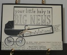 Big News!  Your Baby! Congratulations! by CottageLaneStamper on Etsy