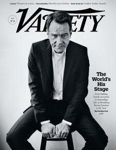 """VarietyArt:  The cover of our May 27th issue featuring Bryan Cranston. Photographed by Andrea Slaszlokonrath for Variety Magazine. You can read the full profile of the """"Breaking Bad"""" and """"Godzilla"""" star """"Bryan Cranston: All the World's His Stage"""" here:http://tinyurl.com/n4n34j6"""