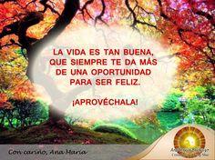 #FraseAnaMaría: La vida siempre nos da más de una oportunidad para ser feliz y dar lo mejor de nosotros.