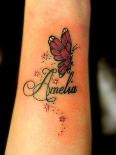Adorable Baby Name Tattoo Ideas                                                                                                                                                      More