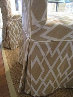 How To Slipcover Parsons Dining Chairs