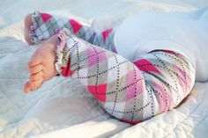 Pink and Purple Argyle Ruffled Baby Leg Warmers by thelilredwagon, $5.95