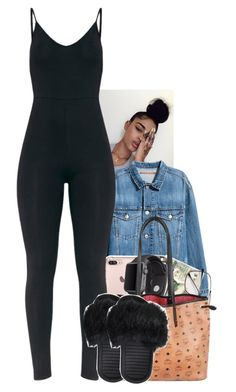 """""""Untitled #2320"""" by txoni ❤ liked on Polyvore featuring H&M, Apple and MCM"""