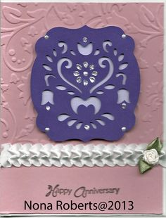 www.quwikcards.blogspot.com Embossed, stampin up card stock and used Folk Art Festival cartdrige.