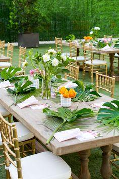 A Tropical DIY Floral Bar Cart Swag (+ Our DIY event in Dallas!)   Sugar & Cloth