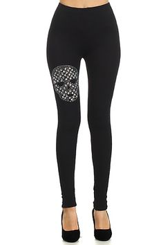 7729c632c Buy directly from the world's most awesome indie brands. Or open a free  online store. Skull LeggingsCotton LeggingsBlack ...